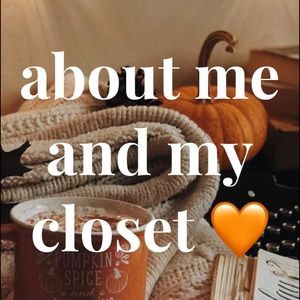 about me and my closet 🧡